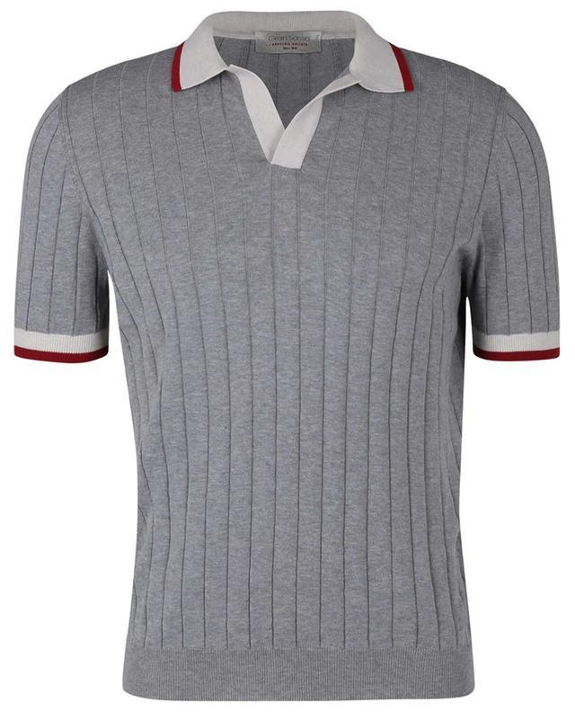 Polo en coton côtelée Tennis GRAN SASSO