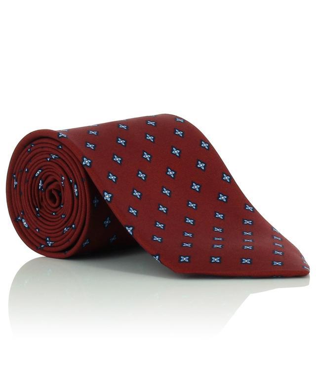 Cravate en soie imprimée fleurs FEFE NAPOLI