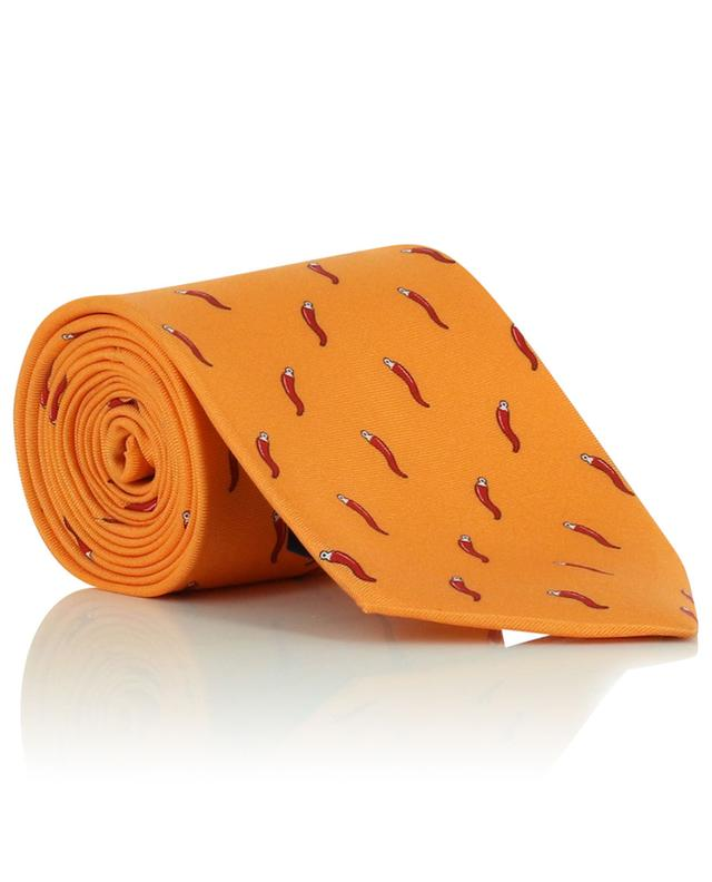 Cravate en soie imprimée piments FEFE NAPOLI