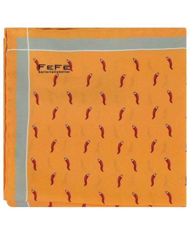 Pochette en soie imprimée piments FEFE NAPOLI