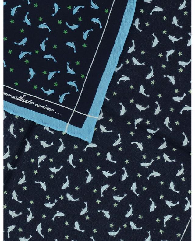 Pochette en soie imprimée dauphins FEFE NAPOLI
