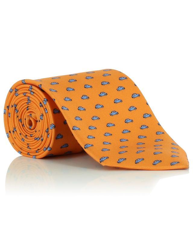 Cravate en soie imprimée voitures FEFE NAPOLI
