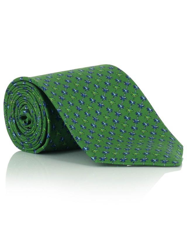 Cravate en soie imprimée palmiers FEFE NAPOLI