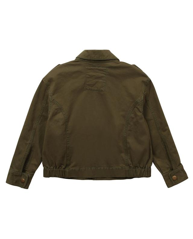 Veste fille en gabardine patch logo Jess ZADIG & VOLTAIRE