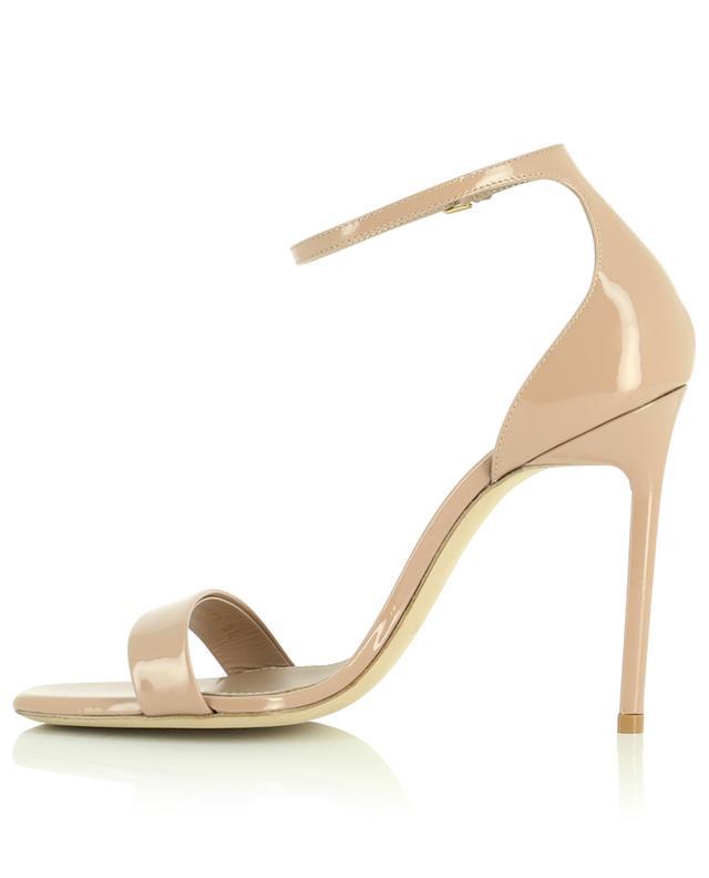 Sandales à talon en cuir verni Amber 105 SAINT LAURENT PARIS