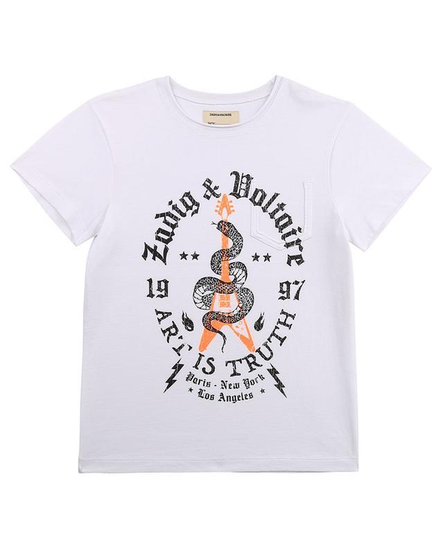 T-shirt garçon imprimé serpent Kita ZADIG & VOLTAIRE