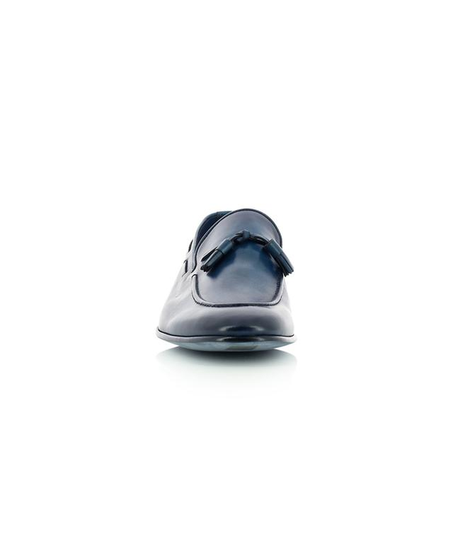 Mocassins à pampilles en cuir dégradé de couleur bleue BARRETT