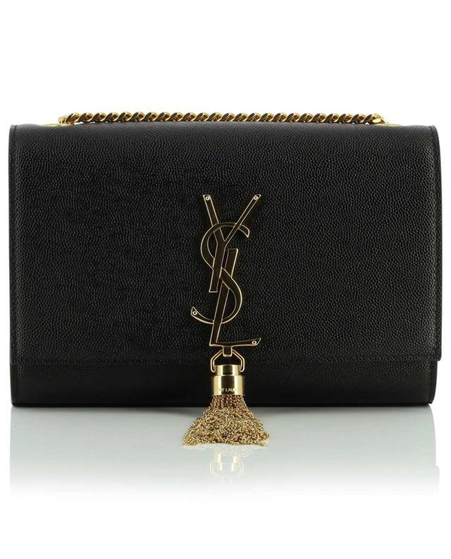 Sac porté épaule en cuir grain de poudre Kate Small Tassel SAINT LAURENT PARIS