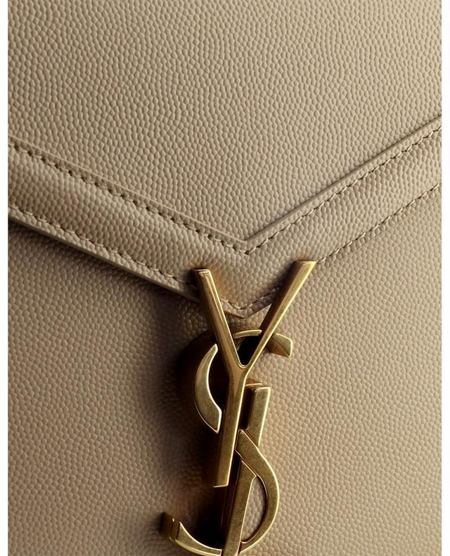 Sac porté épaule en cuir texturé Cassandra Monogram Clasp SAINT LAURENT PARIS