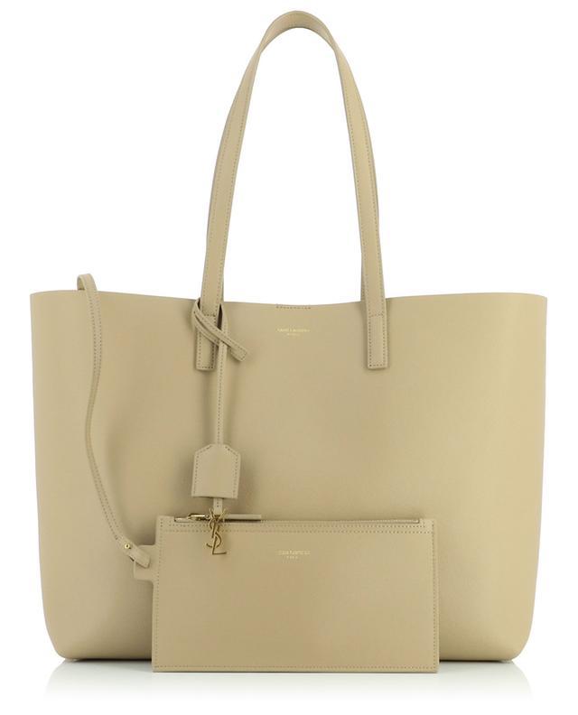 Sac cabas en cuir souple Shopping Bag SAINT LAURENT PARIS