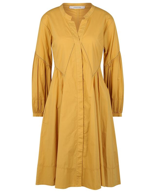 Robe trapèze courte à manches gigot Poplin Power DOROTHEE SCHUMACHER