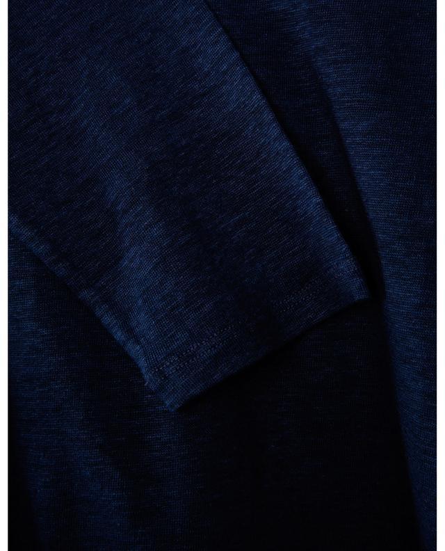 T-shirt à manches longues en lin col lurex BONGENIE GRIEDER