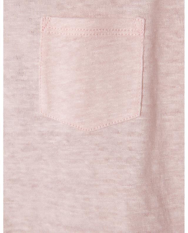 T-shirt à col V avec poche en lin BONGENIE GRIEDER
