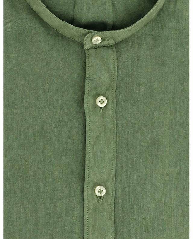 Chemise en lin à col bandeau TINTORIA MATTEI