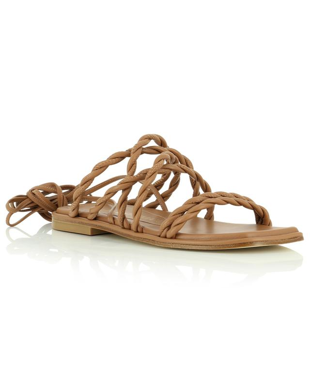 Sandales plates a lacer en cuir nappa tressé Calypso STUART WEITZMAN