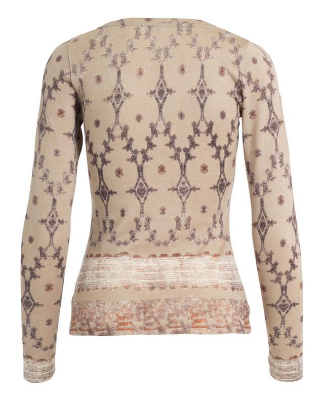 Top à manches longues en soie, laine et cachemire PASHMA