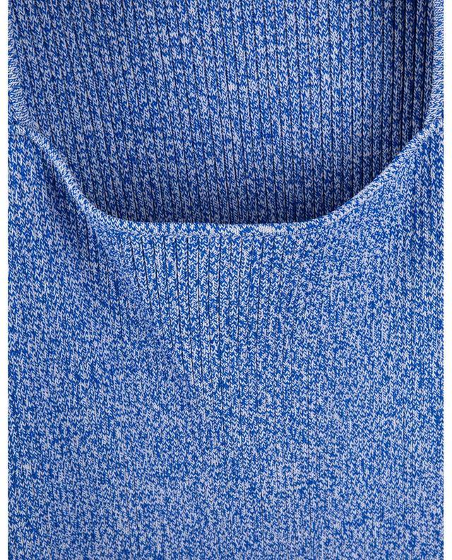 Robe chaussette en maille côtelée à encolure carrée GANNI