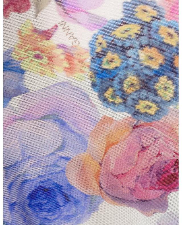 Top en maille imprimé de fleurs multicolores GANNI