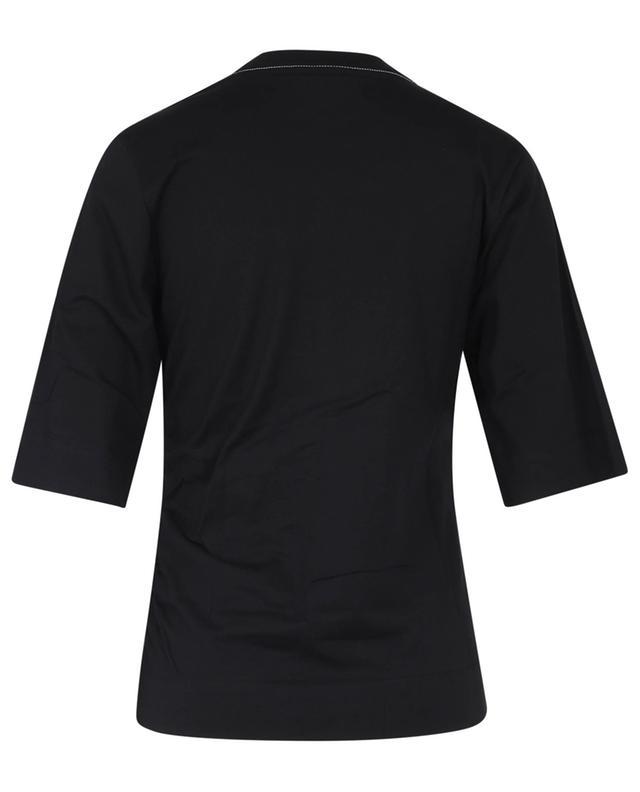 T-shirt en coton organique froncé GANNI