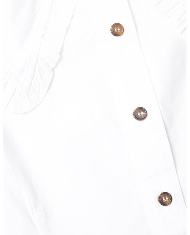 Chemise boxy sans manches en coton bio à col oversize GANNI