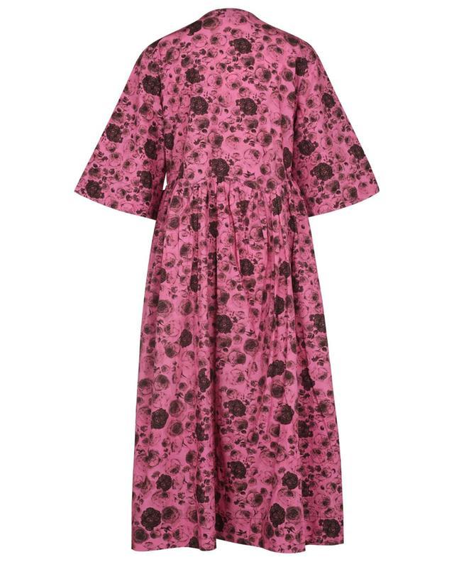 Robe portefeuille ample imprimée roses Boxy Tent GANNI