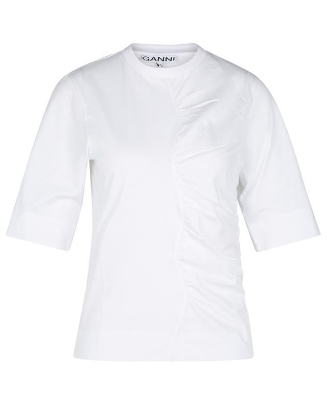 T-shirt à fronces en jersey de coton bio GANNI