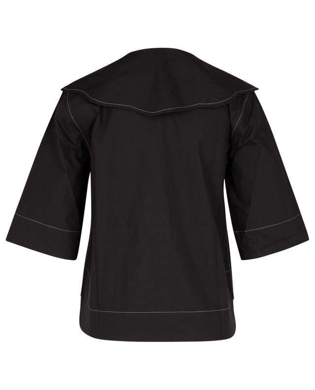 Chemise en coton bio à col oversize GANNI