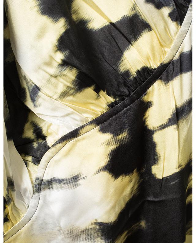 Robe longue asymétrique en satin effet tie-dye GANNI