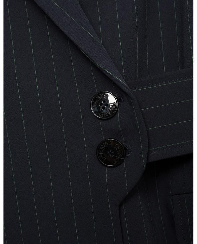 Veste de costume portefeuille à fines rayures GANNI