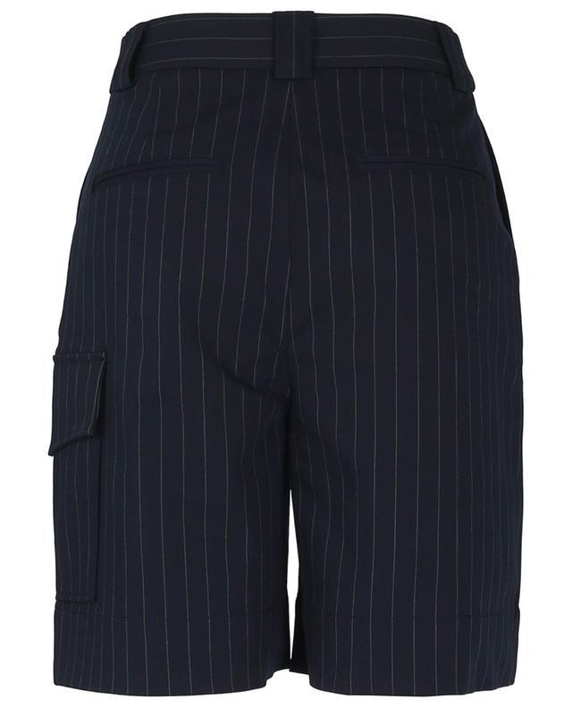 Short de costume taille haute à fines rayures GANNI