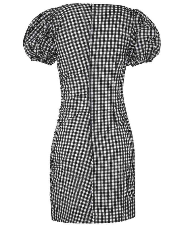 Mini robe en seersucker froncée à carreaux vichy GANNI