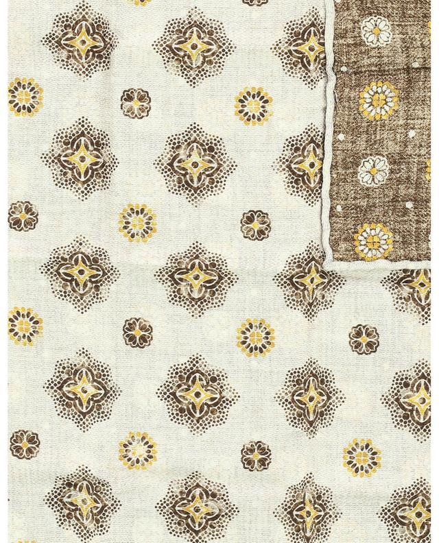 Pochette réversible en soie motifs floraux BRUNELLO CUCINELLI