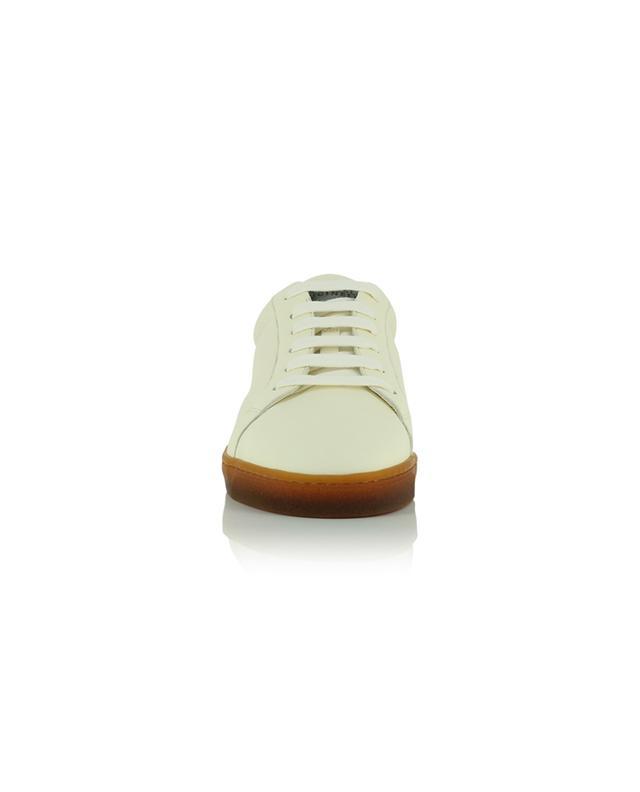 Baskets basses à lacets en cuir grainé BRUNELLO CUCINELLI