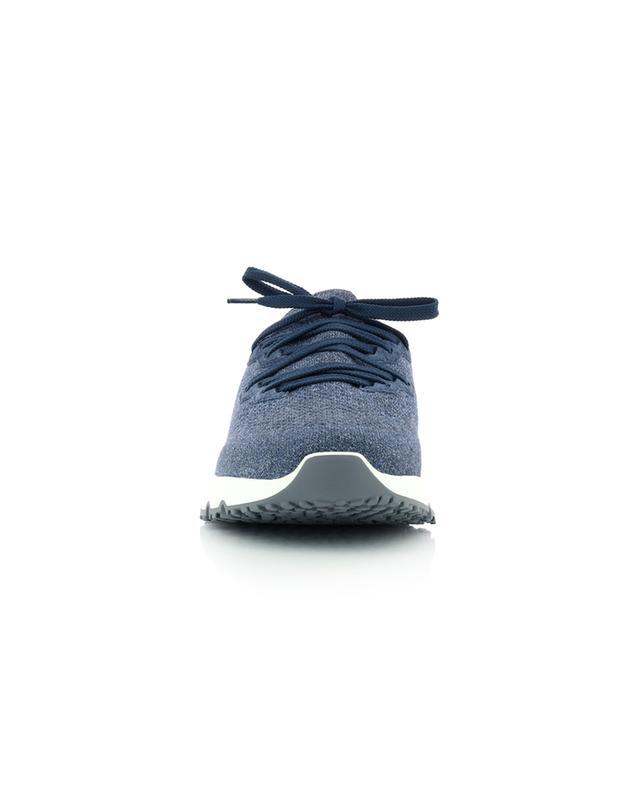 Baskets basses à lacets en maille de coton esprit running BRUNELLO CUCINELLI