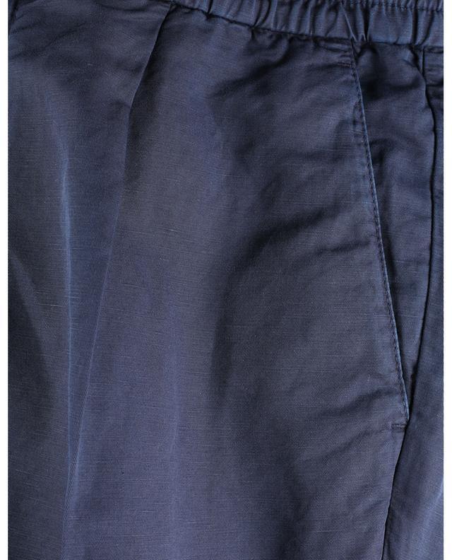 Pantalon en gabardine de coton et lin Leisure Fit BRUNELLO CUCINELLI