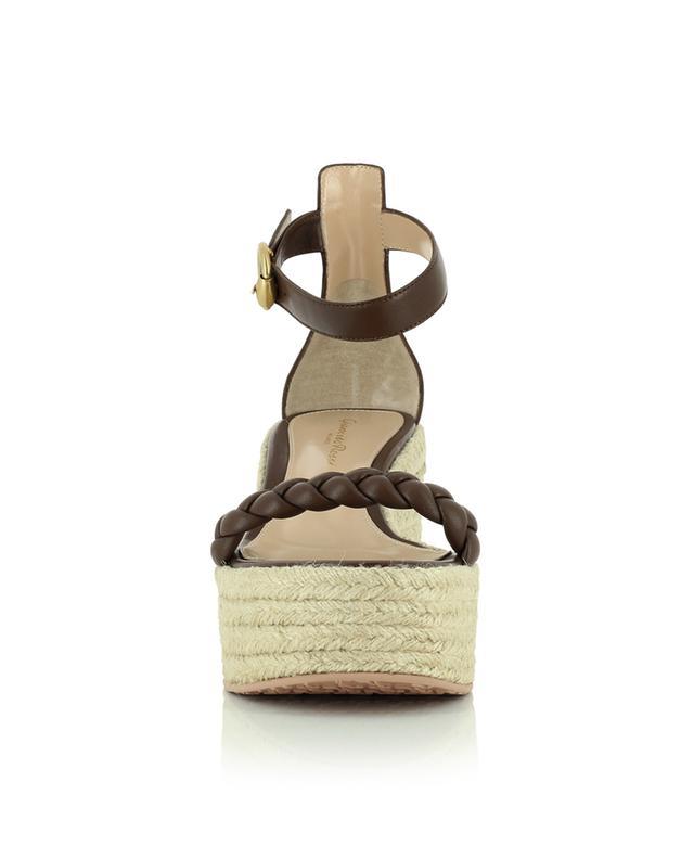 Sandales compensées en cuir nappa Merida GIANVITO ROSSI