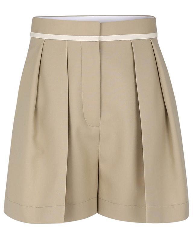 Shorts à pinces en laine texturée grain de poudre Ariel STELLA MCCARTNEY