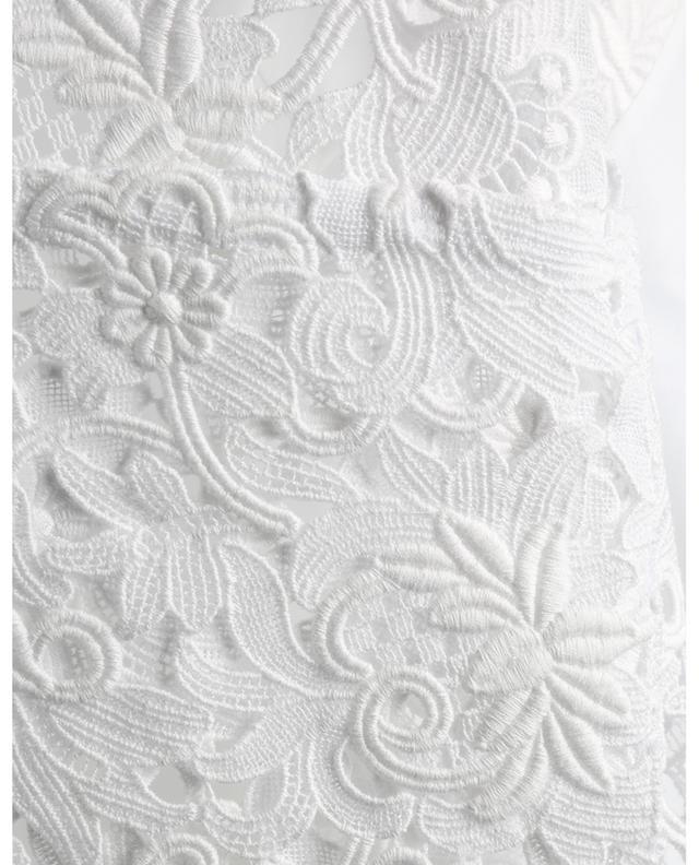Chemise raccourcie en coton dentelle Blossom Macramé VALENTINO