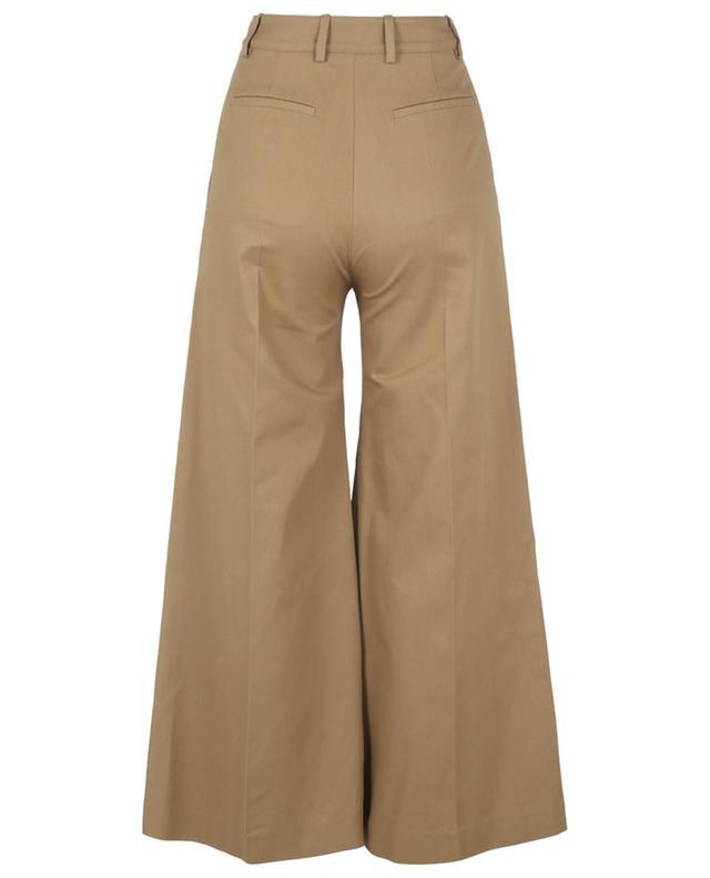 Pantalon évasé taille haute en gabardine VALENTINO