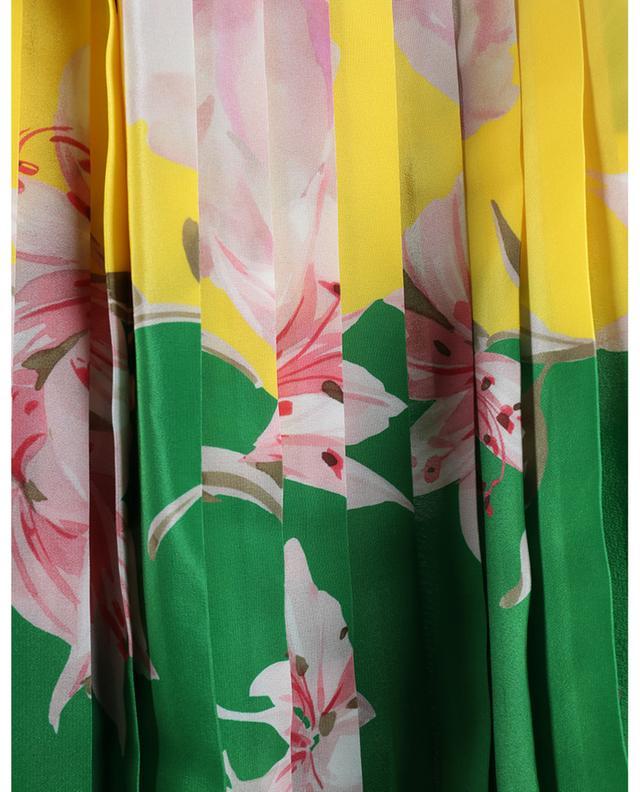 Jupe midi plissée en soie fleurie Flying Flowers VALENTINO