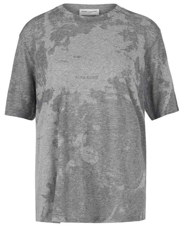 T-shirt tie-dye gris chiné Saint Laurent Rive Gauche SAINT LAURENT PARIS