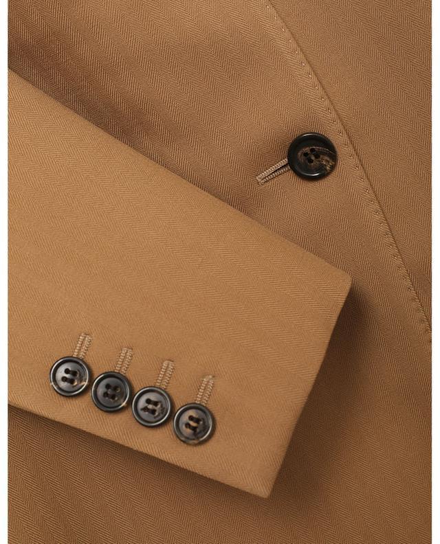 Blazer à boutonnage simple en laine texturé chevrons SAINT LAURENT PARIS