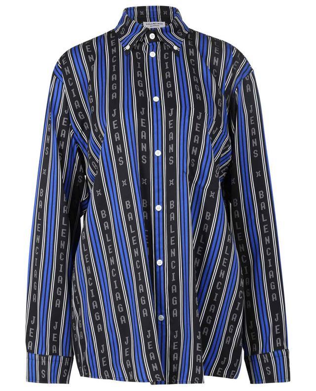 Chemise en sergé Balenciaga Logo Stripes Large Fit BALENCIAGA
