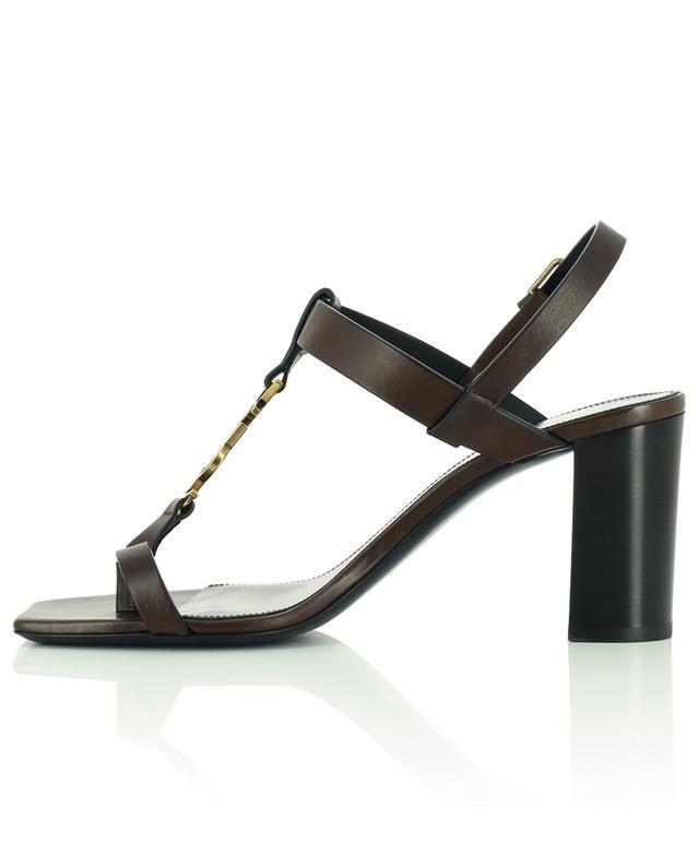 Sandales en cuir à talon carré Cassandra 75 SAINT LAURENT PARIS