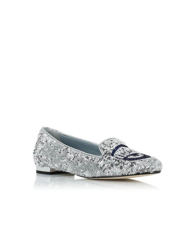 Ballerinas aus Leder mit Glitter CHIARA FERRAGNI