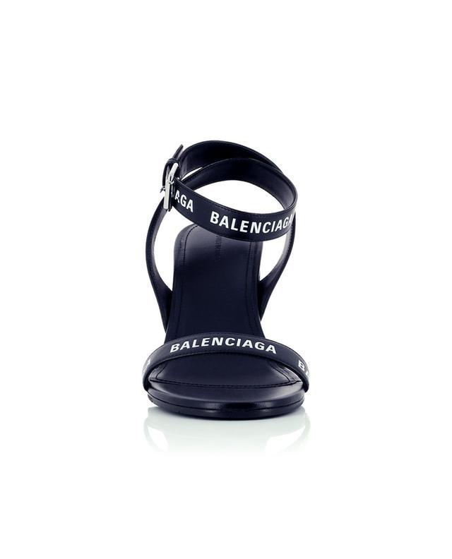 Sandales en cuir à bout rond Allover Logo 85 BALENCIAGA