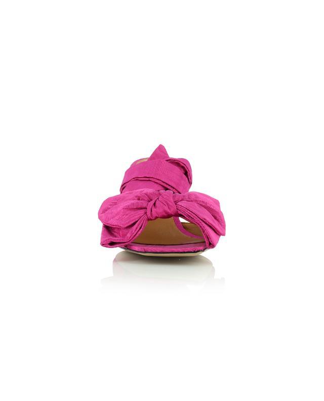 Sandales à lacer en satin à petit talon GANNI