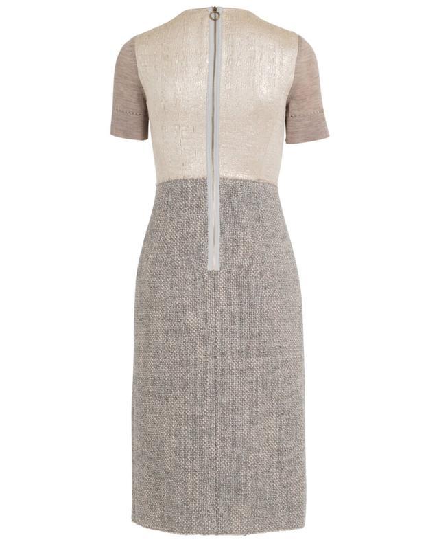 Robe à manches courtes en tweed, lamé et laine AGNONA
