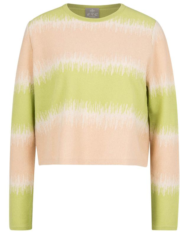 Pull boxy en cachemire effet tie-and-dye FTC CASHMERE