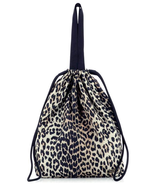 Sac cabas en nylon imprimé léopard GANNI